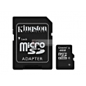 Micro SD card Kingston 4GB Alta Capacidade - com adaptador SD