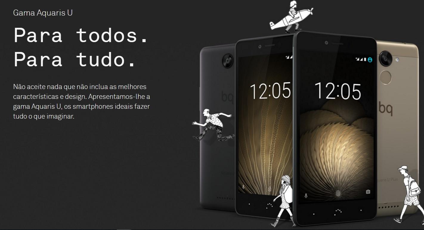 SmartPhones Bq Aquaris linha U